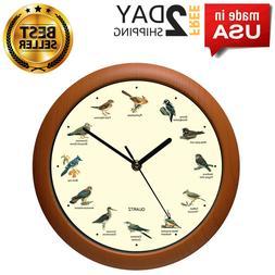 NEW Singing Bird Wall Clock Battery Powered Home Decorative