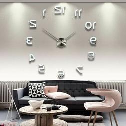 New Watch Wall Clocks Acrylic Mirror Stickers Home Decoratio