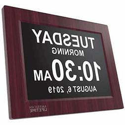Newest Electronics Features Version Day Clock - Extra Large