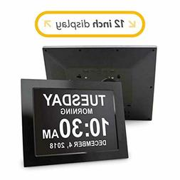 American Lifetime  12 Inch Day Clock - Extra Large Impaired