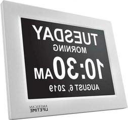 Day Clock - Extra Large Impaired Vision Digital White