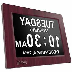 Newest Version Day Clock - Extra Large Impaired Vision Digit