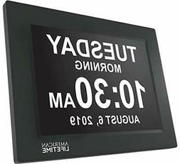 American Lifetime  Day Clock - Extra Large Impaired Black