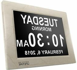 American Lifetime Newest Version Day Clock - Extra Large Imp
