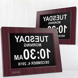 American Lifetime  Day Clock - Extra Large Two Pack Mahogany
