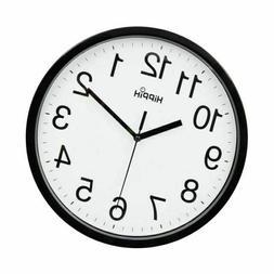 "NIB Hippih Black & White 10"" Round Wall Clock"