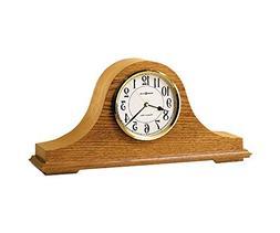 "Nicholas Oak Mantel Clock Golden Oak Dimensions: 17.75""W X 4"