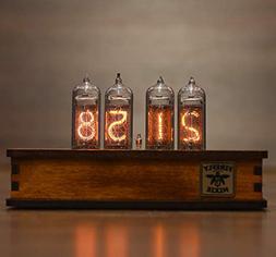 Nixie Tube Clock 4x IN-14 Nixie Tubes Vintage Retro Desk Clo