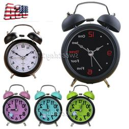 No Ticking Silent Analog Alarm Clock Super Loud Black Backli