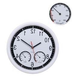 Non Ticking Silent Indoor/ Outdoor Wall Clock Waterproof The
