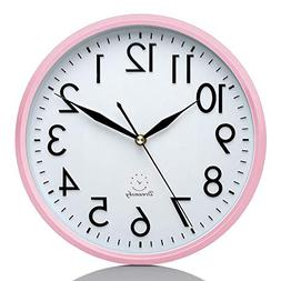 """DreamSky 10"""" Silent Wall Clock, Battery Operated, Non-Tickin"""