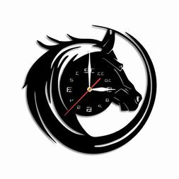 "MandarinStudio Offer. Cut of Plastic 11,4"" Horse Wall Clock"