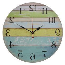 Old Oak Large Decorative Wall Clock Silent Non-Ticking Batte