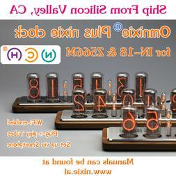Omnixie Plus Nixie Tube Clock IN18 Z566M WIFI sync time wood