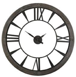 "XL Open Faced Metal Gallery Wall Clock 60"""