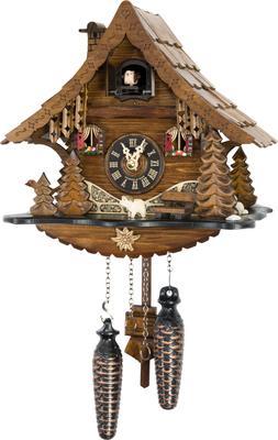 Original German Cuckoo Clock Quartz-movement Chalet-Style 25