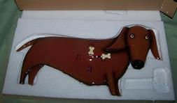 Allen Designs Oscar the Dachshund Dog with Bone Pendulum Wal