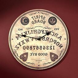 Design Toscano Ouija Spirit Board Wall Clock, Tan