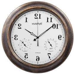 SkyNature Outdoor Clocks, 18 Inch Large Indoor Wall Clock Wa