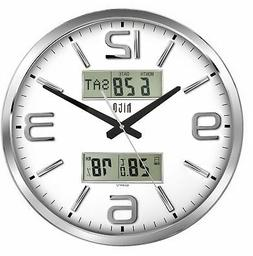 hito Silent Wall Clock Non Ticking 16 inch Large Oversized D