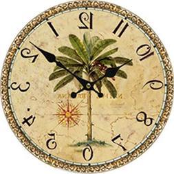 Moonluna Palm Tree Large Wall Clock for Kitchen Bedroom Livi