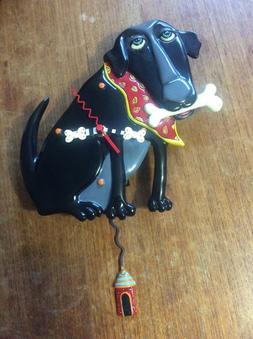 Parker Black Dog/Red Bandana Dog Clock - Allen Design