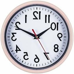 "Bernhard Products - Pink Wall Clock 8"" Silent Non-Ticking Qu"