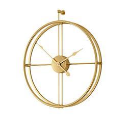 HIGJ Polygon Wall Clock Oversized Metal Clocks Round Clock M