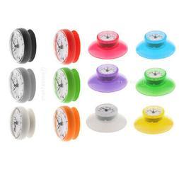 Portable Bathroom Shower Clock Water Resistant Wall Clock fo