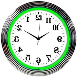 Neonetics Powered by Ford Neon Wall Clock, 15-Inch