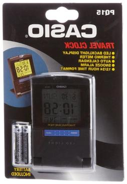 Casio PQ15-1K Travel Alarm Clock with Thermometer