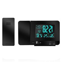 Protmex Projection Alarm Clock, PT3531B WWVB Digital Radio C