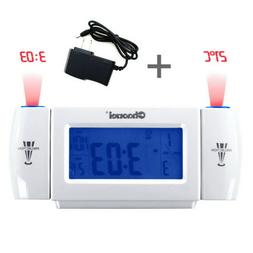 Projection Alarm Clock Bedrooms Cool Digital Snooze Time for