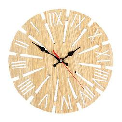 Quality Wooden Round Wall Clock For Office House Living Room