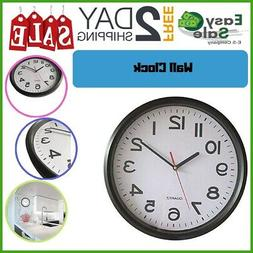 Ess Wall Clock Non Ticking Decorative Office Kitchen Bedroom