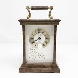 "Hermle Quartz Desk Clock 6.5"" Made in West Germany"