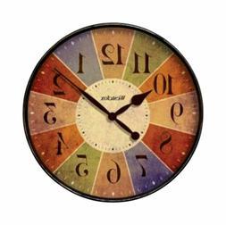 Westclox Quartz Wall Clock 12 Multicolored Quartz Movement G