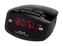 Westclox 80209 Dual Alarm Clock & AM/FM Radio Battery Backup