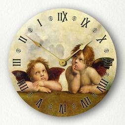 "Raphael's Sistine Madonna Daydreaming Angels Cherubs 12"" Sil"