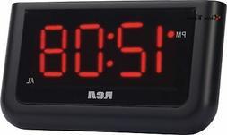 RCA RCD30 Digital Alarm Clock with 1.4-inch Display - Black