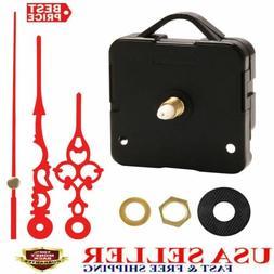 Red Mute Hands Quartz Wall Clock Movement Mechanism Parts Ki