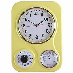 Retro Kitchen Clock With Temperature and Timer. By Lily's Ho