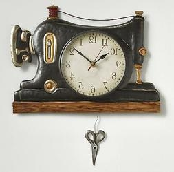 Retro Sewing Machine Pendulum Wall Clock