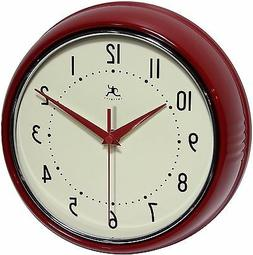 Infinity Instruments Retro Vintage Round Metal Wall Clock, R