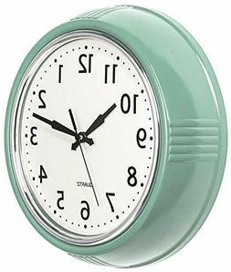 Bernhard Products Retro Wall Clock 9.5 Inch Green Kitchen 50