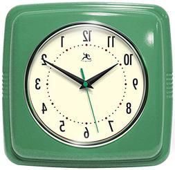 "Infinity Instruments 9"" Retro Wall Clock Green Wall Clock"