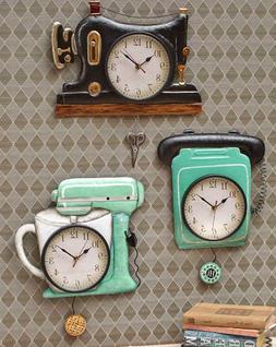 Retro Wall Clock Old Fashioned Home Decor Kitchen Craft Sewi