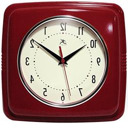 "Infinity Instruments 9"" Retro Wall Clock Red Wall Clock"