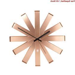 Umbra Ribbon Modern 12-inch Wall Clock, Battery Operated Qua