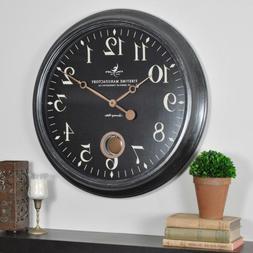 Round 24 inch Large Varenna Wall Clock Analog Indoor Living